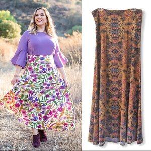 LuLaRoe Boho Hippie Summer Maxi Skirt